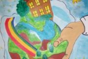 """Выстака рисунков детей и родителей """"Земля - наш Дом"""""""