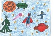 """Конкурс детского рисунка """"Космос глазами детей"""""""
